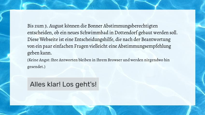 Bonn geht baden – die Bürgerentscheid-Entscheidungshilfe